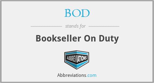 BOD - Bookseller On Duty