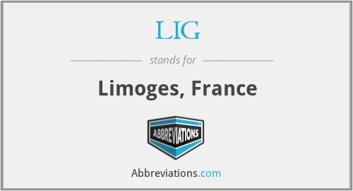 LIG - Limoges, France