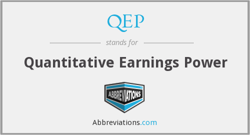 QEP - Quantitative Earnings Power