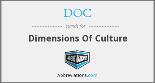DOC - Dimensions Of Culture