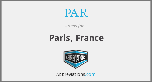 What does PAR stand for?