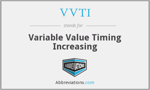 What does VVTI stand for?