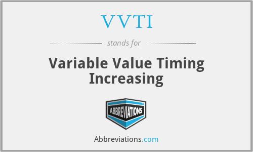 VVTI - Variable Value Timing Increasing