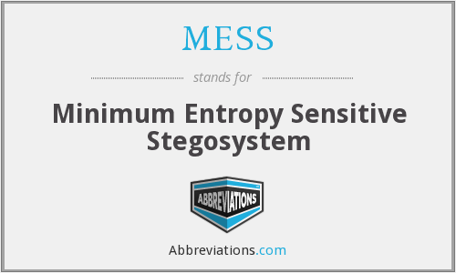 MESS - Minimum Entropy Sensitive Stegosystem