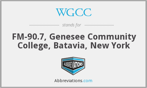 WGCC - FM-90.7, Genesee Community College, Batavia, New York