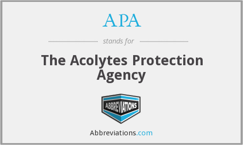 APA - The Acolytes Protection Agency