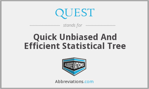 QUEST - Quick Unbiased And Efficient Statistical Tree