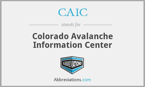 CAIC - Colorado Avalanche Information Center