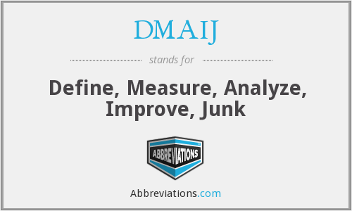 DMAIJ - Define, Measure, Analyze, Improve, Junk