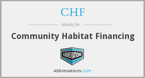 CHF - Community Habitat Financing