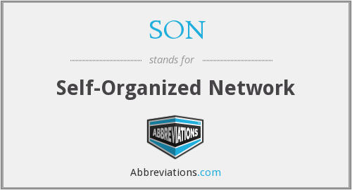 SON - Self-Organized Network