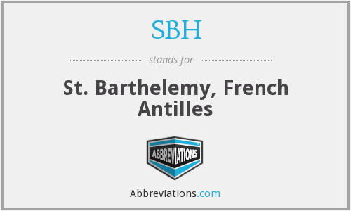 SBH - St. Barthelemy, French Antilles