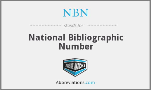 NBN - National Bibliographic Number