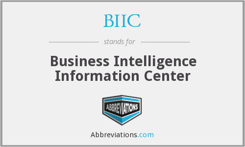 BIIC - Business Intelligence Information Center