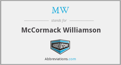 MW - Mccormack Williamson