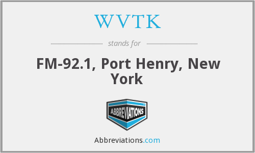 WVTK - FM-92.1, Port Henry, New York
