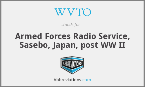 WVTO - Armed Forces Radio Service, Sasebo, Japan, post WW II
