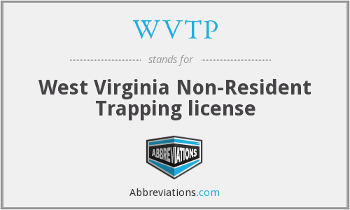 WVTP - West Virginia Non-Resident Trapping license