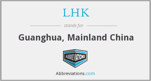 What does LHK stand for?