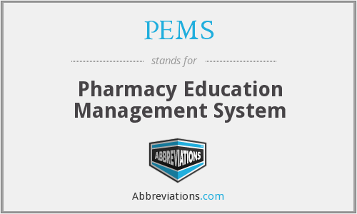PEMS - Pharmacy Education Management System