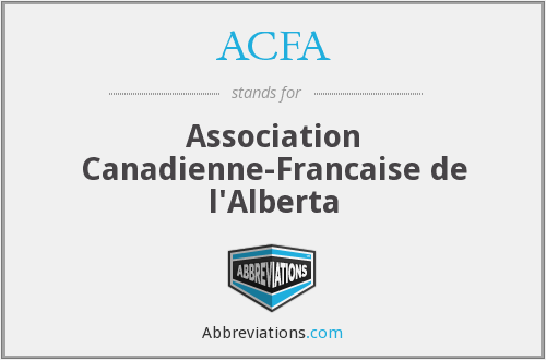 ACFA - Association Canadienne-Francaise de l'Alberta