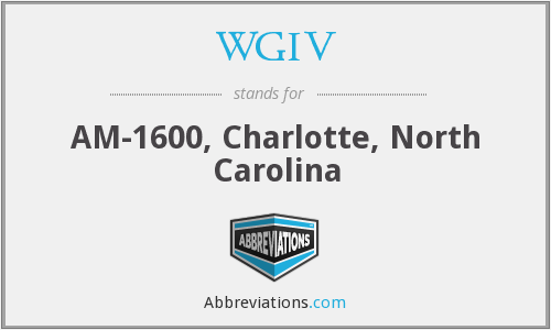 WGIV - AM-1600, Charlotte, North Carolina