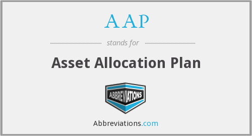AAP - Asset Allocation Plan