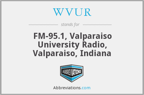 What does WVUR stand for?