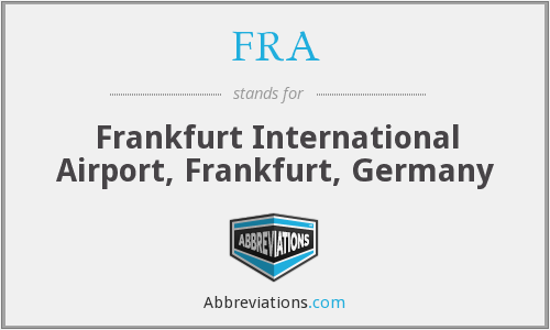 FRA - Frankfurt International Airport, Frankfurt, Germany