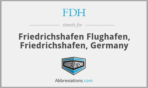 FDH - Friedrichshafen Flughafen, Friedrichshafen, Germany