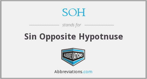 SOH - Sin Opposite Hypotnuse