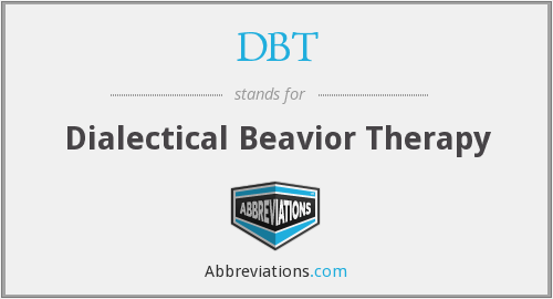 DBT - Dialectical Beavior Therapy