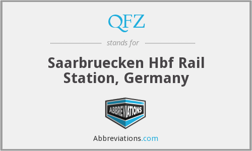 QFZ - Saarbruecken Hbf Rail Station, Germany