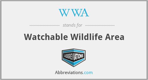 WWA - Watchable Wildlife Area