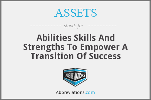 ASSETS - Abilities Skills And Strengths To Empower A Transition Of Success
