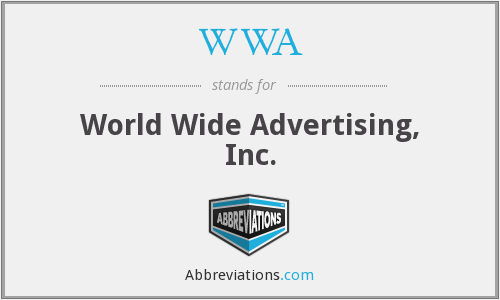 WWA - World Wide Advertising, Inc.