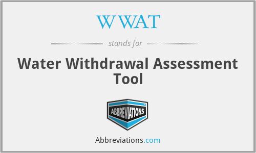 WWAT - Water Withdrawal Assessment Tool