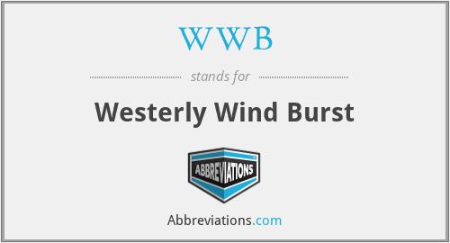 WWB - Westerly Wind Burst
