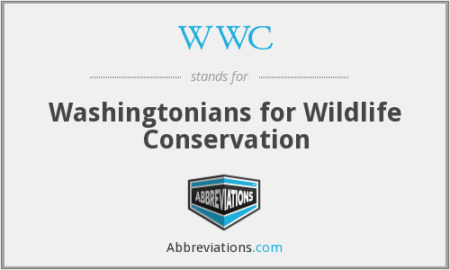 WWC - Washingtonians for Wildlife Conservation