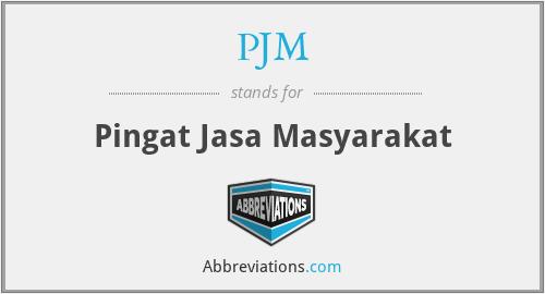 PJM - Pingat Jasa Masyarakat