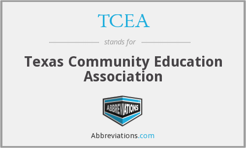TCEA - Texas Community Education Association