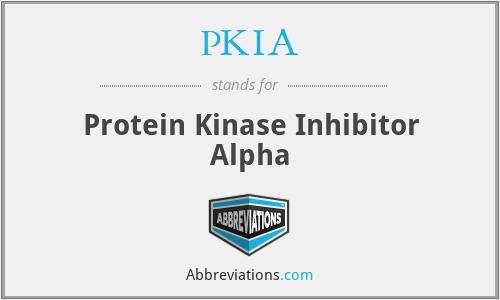 PKIA - Protein Kinase Inhibitor Alpha