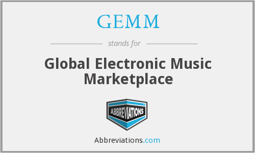 GEMM - Global Electronic Music Marketplace