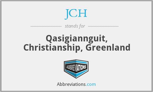 JCH - Qasigiannguit, Christianship, Greenland