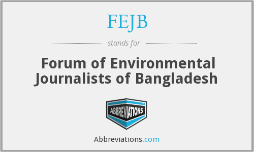 FEJB - Forum of Environmental Journalists of Bangladesh