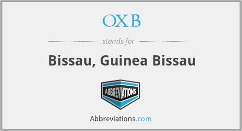 OXB - Bissau, Guinea Bissau