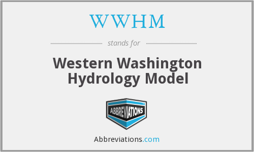 WWHM - Western Washington Hydrology Model