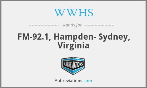 WWHS - FM-92.1, Hampden- Sydney, Virginia