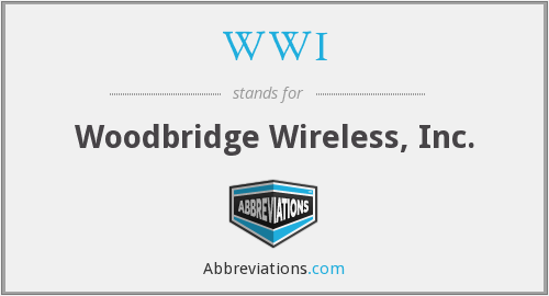 WWI - Woodbridge Wireless, Inc.