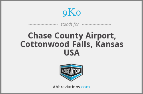 9K0 - Chase County Airport, Cottonwood Falls, Kansas USA